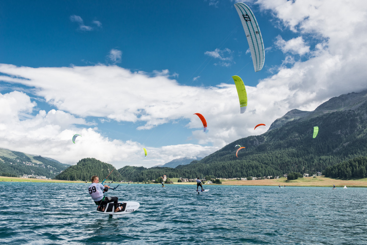 Kitefoil Cup at Lake Silvaplana, Engadinwind 2014