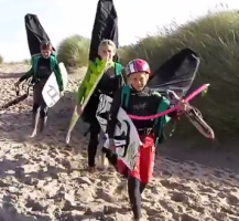 Team Bridge kiting