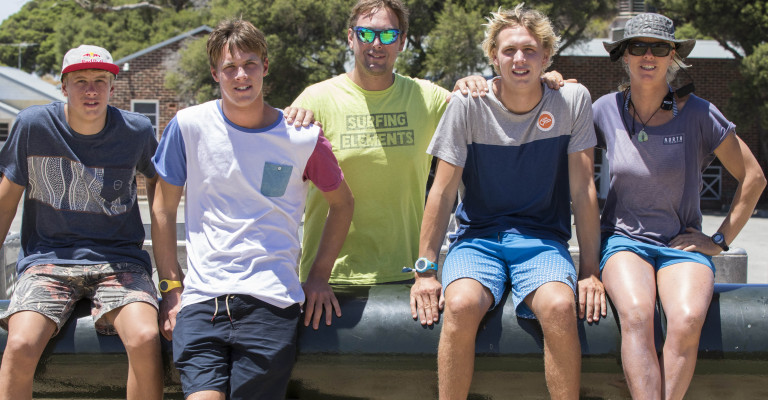 Bridge Family - Rottnest Island - L-r Tom Guy Eric Olly Steph